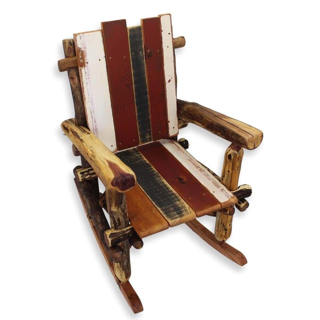 Bohemian Rocking Chair Rocking chair, Rustic rocking