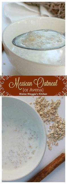 Avena, or Mexican Oatmeal, is a Mexican food classic. Creamy and delicious. Full of milky yumminess that will keep you fuller, longer throughout the day. - By Mama Maggie's Kitchen