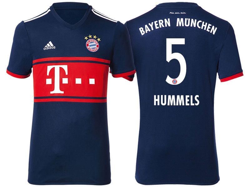 half off 55f05 a1ffa Bayern Munich #5 Mats Hummels 17-18 Road Short Shirt ...