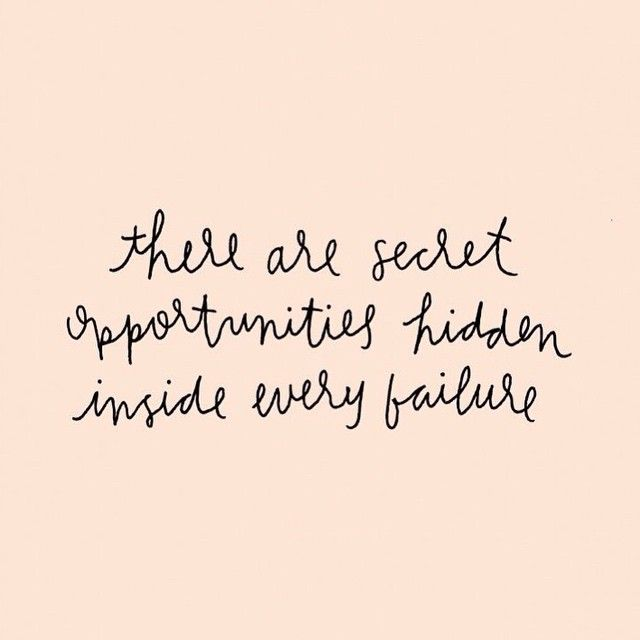 there are secret opportunities hidden insider every failure // modern motivational quote