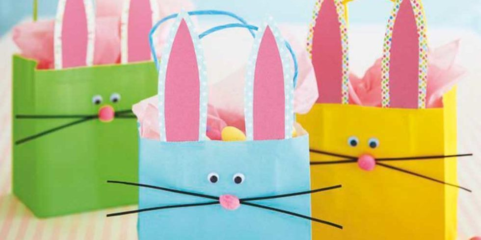 Make bouncing bunny gift bags for a fun easter egg hunt bunny make bouncing bunny gift bags for a fun easter egg hunt negle Gallery