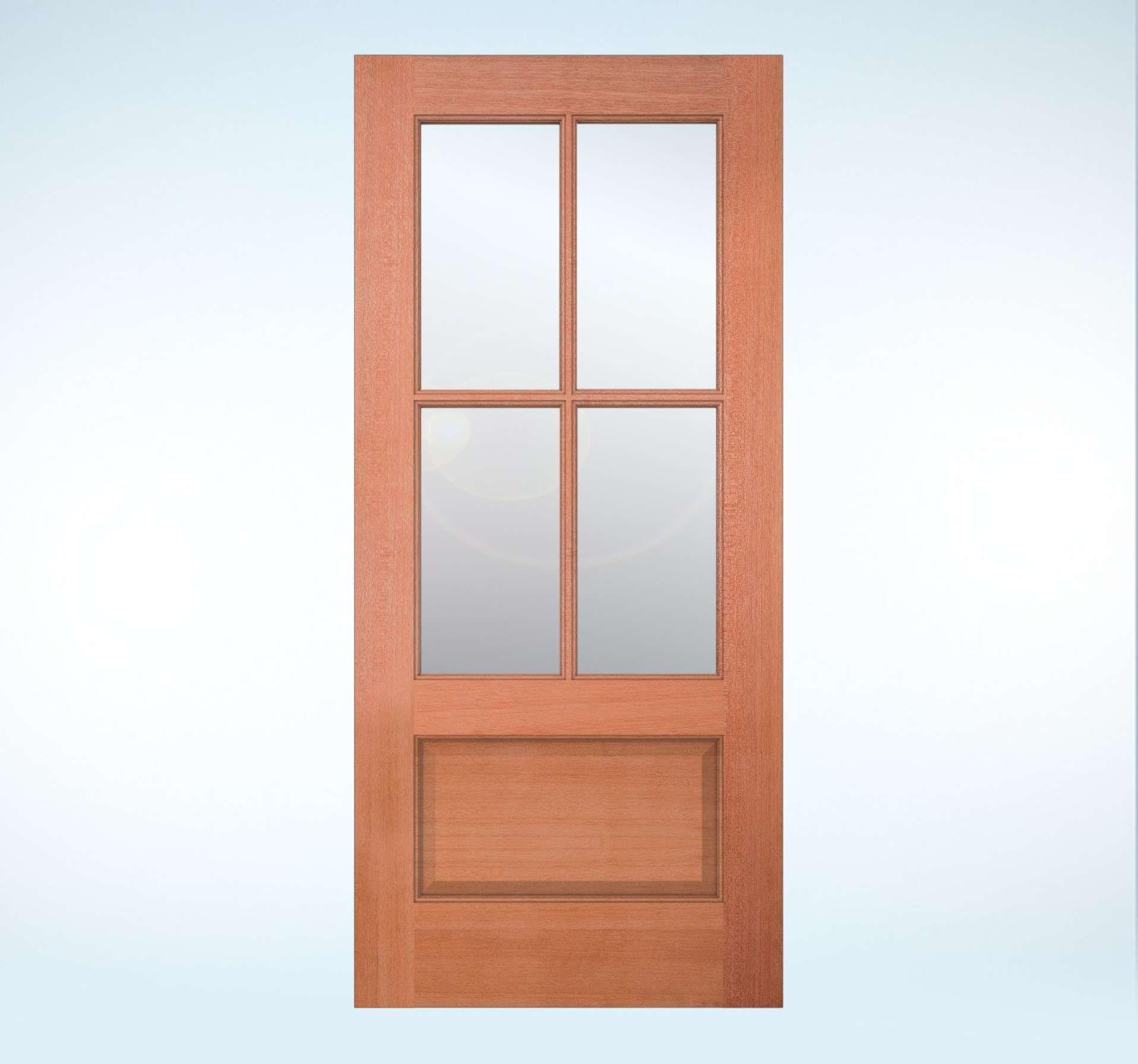 Jeld Wen Model 5104 Wood Glass Panel Exterior Door In Meranti Mahogany For The Back Exterior