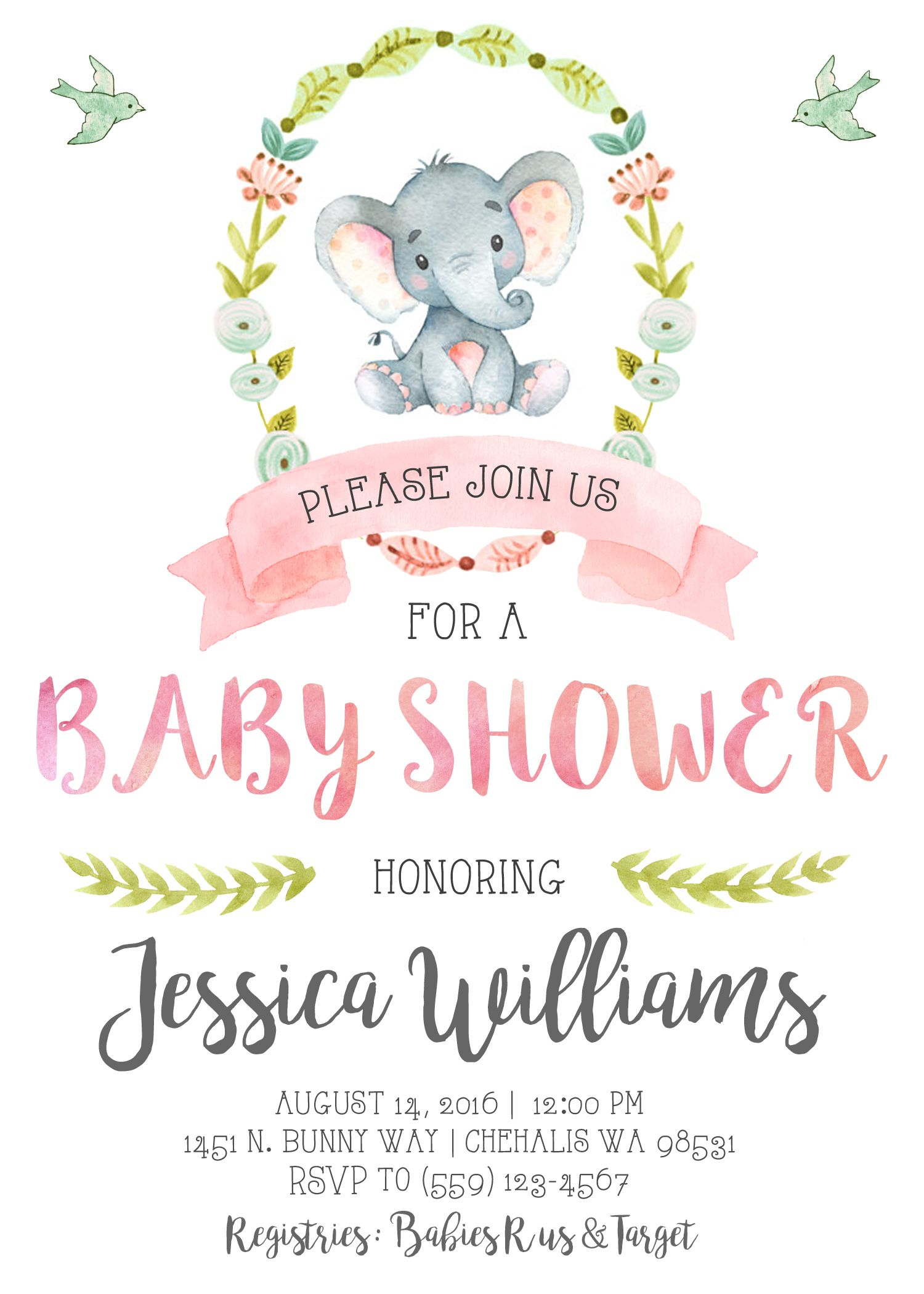 invitations amusing invitation as an baby boy about elephant templates free shower extra astounding ideas