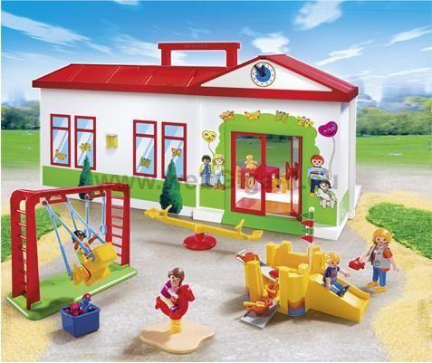 Playmobil 5606 City Life Nursery School Kids Childrens Toy Playset Carry Case