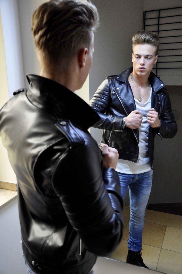 Tee Jott Teejottphotoart Jeans Fur Jungs Lammfell Lederjacke Manner Outfit