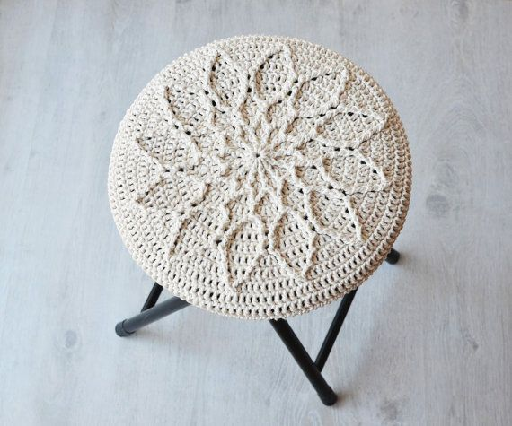 PATTERN Crochet Cabled mandala with flower by LillaBjornCrochet