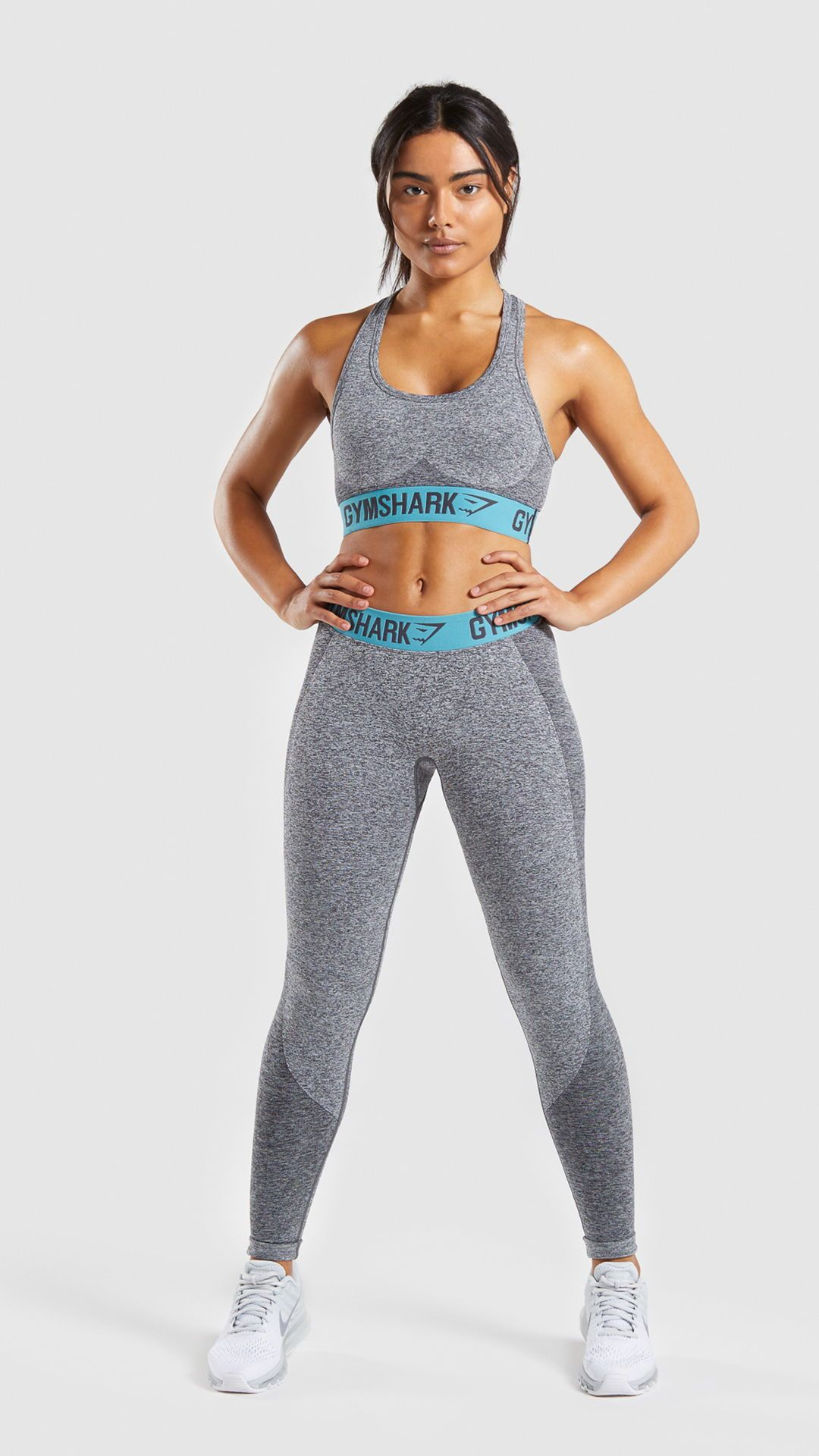 1f88f9a377 Gymshark Flex Sports Bra - Charcoal Marl Dusky Teal in 2019