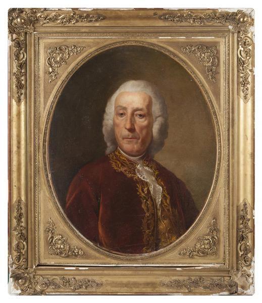 Portrait De Jean Philippe Rameau Vers 1755 Attribue A Alexander Roslin Painting Artwork Portrait Frame
