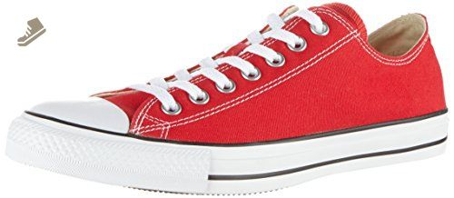 Converse Unisex Chuck Taylor All Star Ox Low Top Red Sneakers - 10 B(M