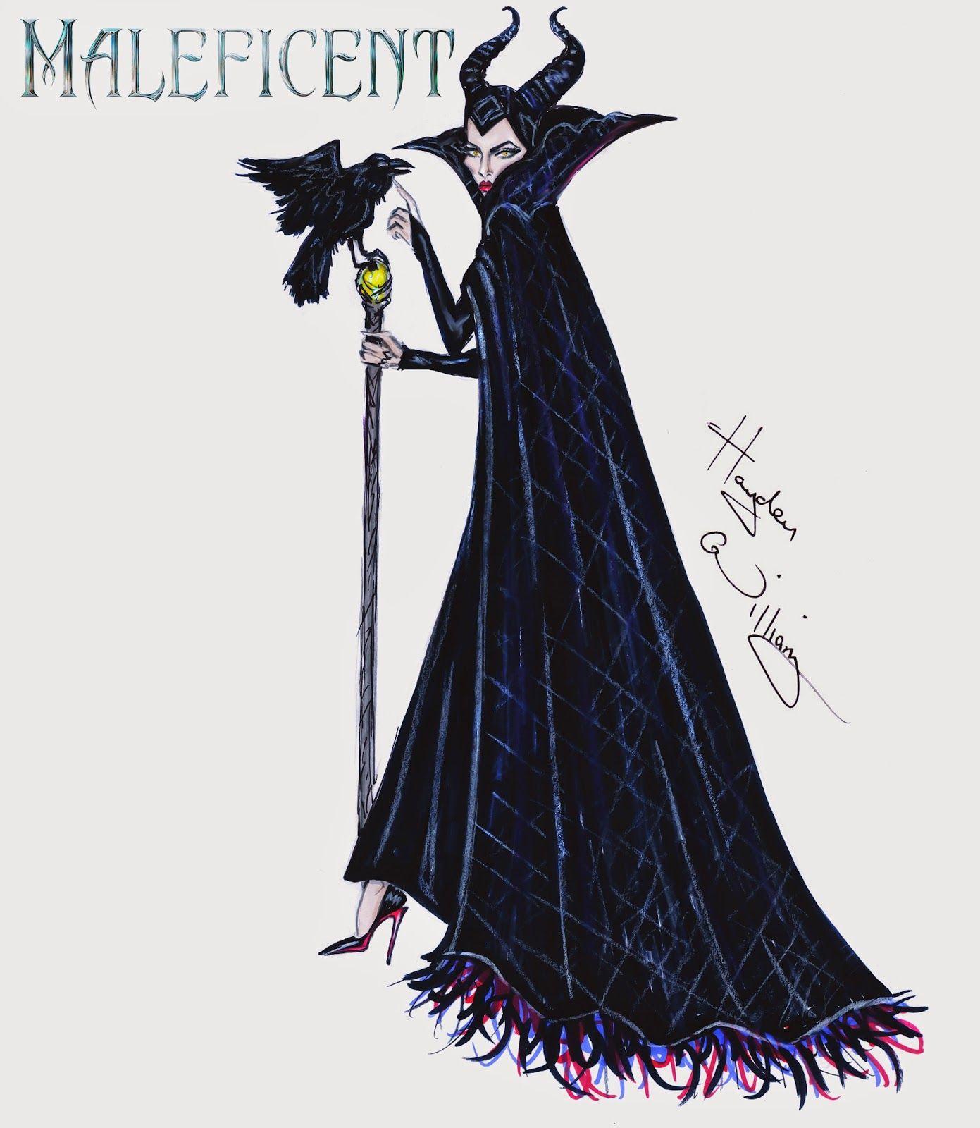 #Hayden Williams Fashion Illustrations #Maleficent collection by Hayden Williams: 'Darkest Heart'