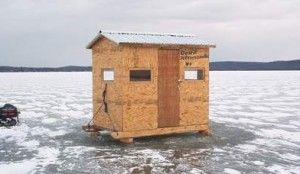 If you 39 re an avid ice fisherman there will come a time for Homemade hunting shack