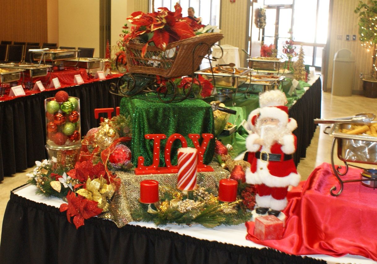 christmas buffet table decorations pictures  Preceding 10