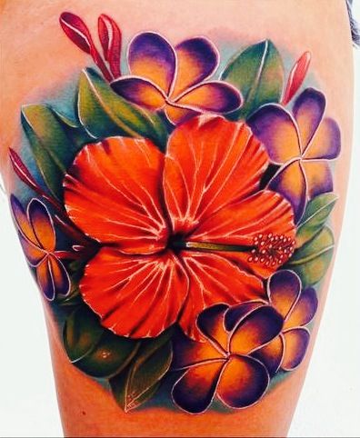 hibiscus and plumeria flower tattoo tattoos pinterest plumeria flower tattoos flower. Black Bedroom Furniture Sets. Home Design Ideas