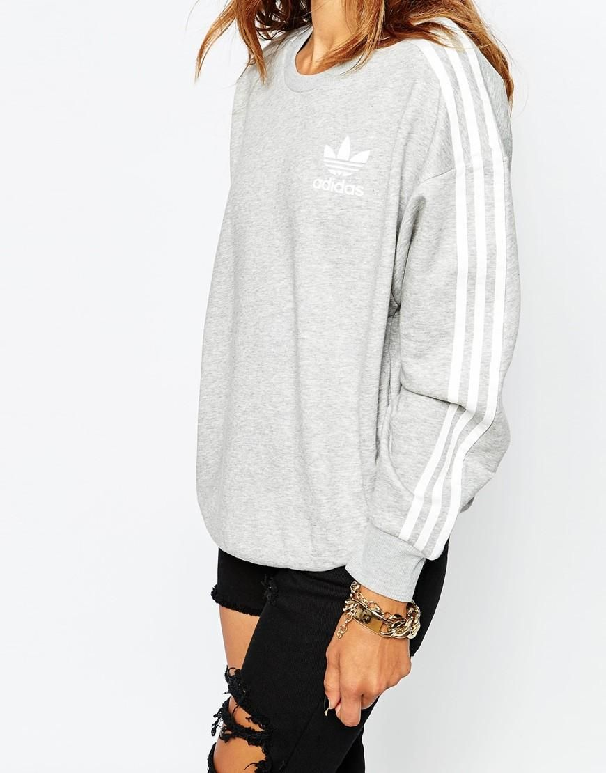 Adidas | adidas Originals 3 Stripe Crew Neck Sweatshirt at ASOS ...