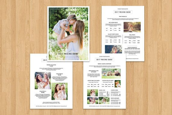 Photography Pricing Guide Template Price List Flyer Templates - Price list brochure template