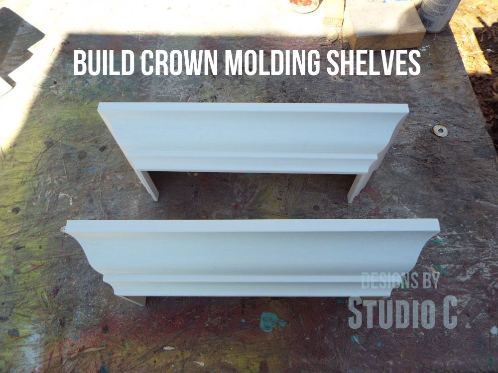 How To Build A Ledge Shelf With Crown Molding Shelves Are
