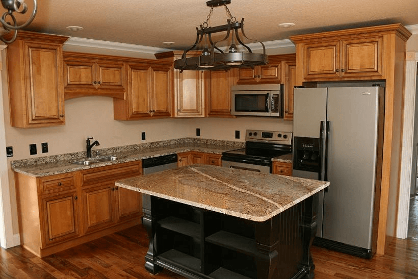 10x10 Kitchen Cabinet With Island Granite Counter Top 10x10 Kitchen Kitchen Design Kitchen Layout
