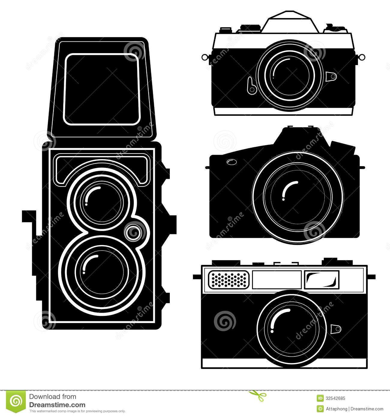 Vector Cameracamera Vintage Camera Vector Royalty Free