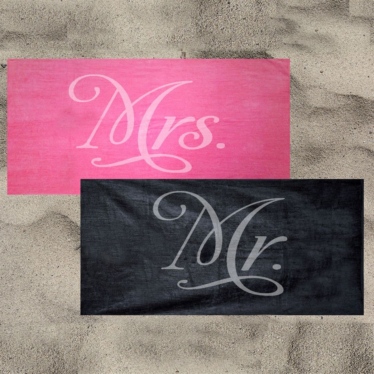 Mr And Mrs Towels Newlywed Gifts Honeymoon Beach Towels Gifts