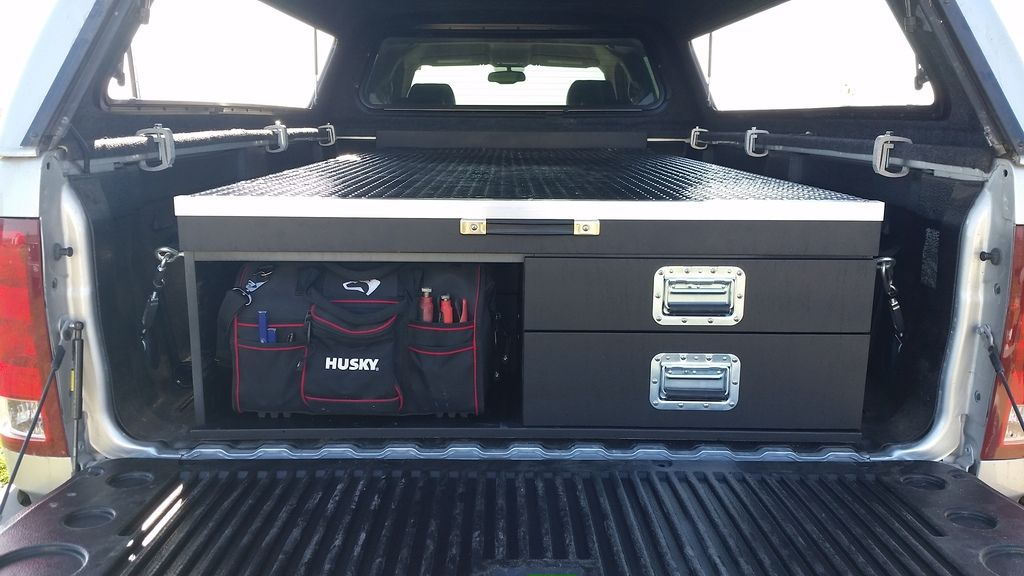 Truck Bed Tool Box With Drawers >> Truck Bed Storage System - Expedition Portal | Truck bed storage