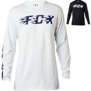 8ae1b85ab9b8 Fox Racing Flame Mens Tees Motocross Crew Neck Long Sleeve T-Shirts