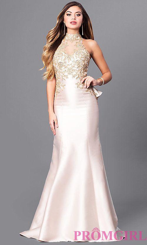 High Illusion Sweetheart Long Prom Dress