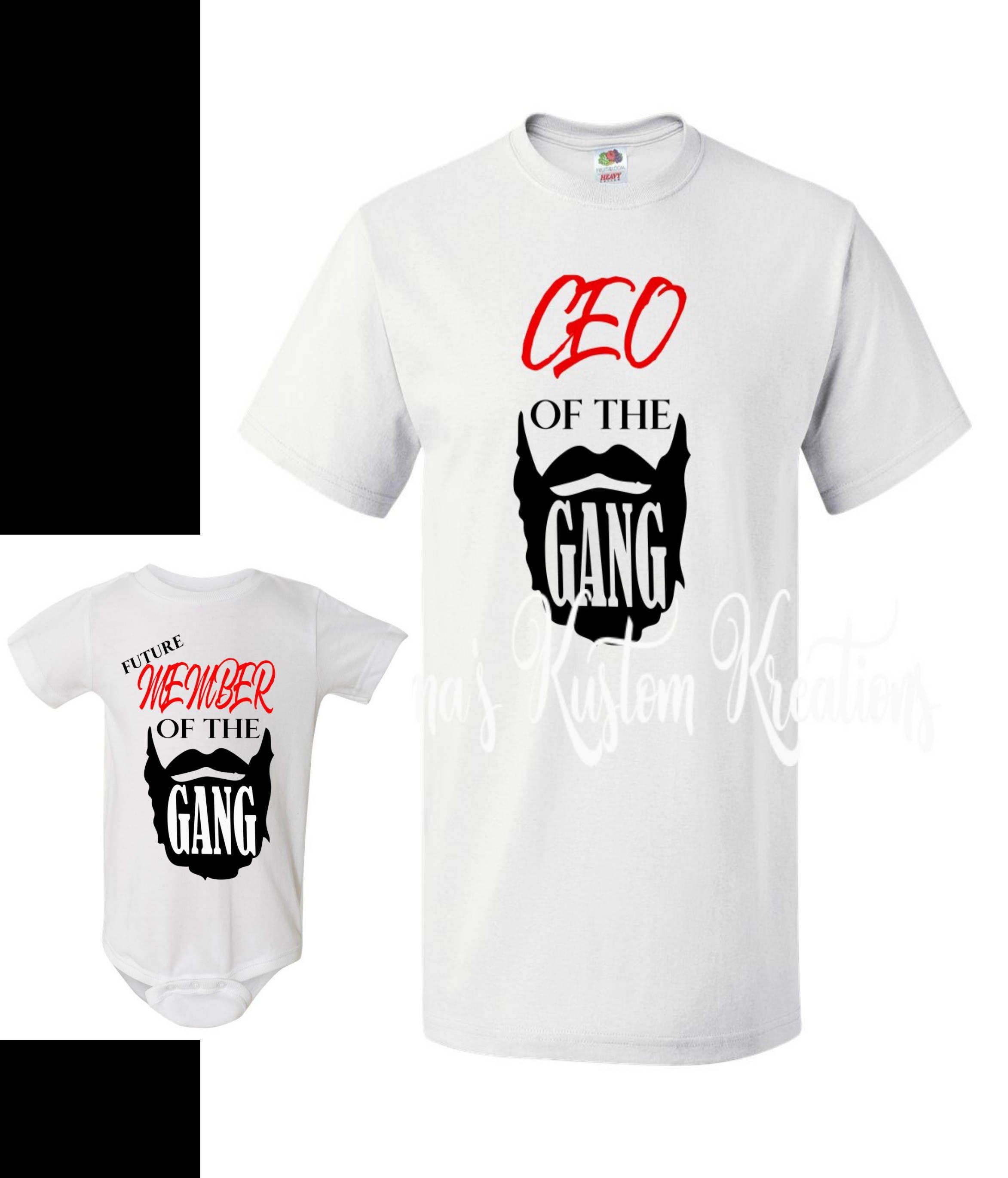 fda475f7b Beard gang, beard gang shirt, father & son shirts, beard shirt, that beard  though, ceo of beard, funny shirt, baby shower gift