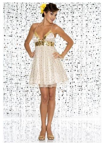 short gold prom dresses   Wedding Expert   Pinterest   Gold prom ...