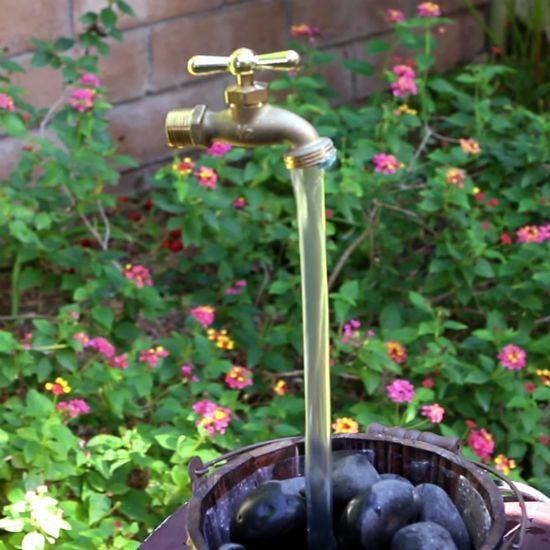 DIY Magic Faucet Fountain | Faucet, Fountain and Gardens