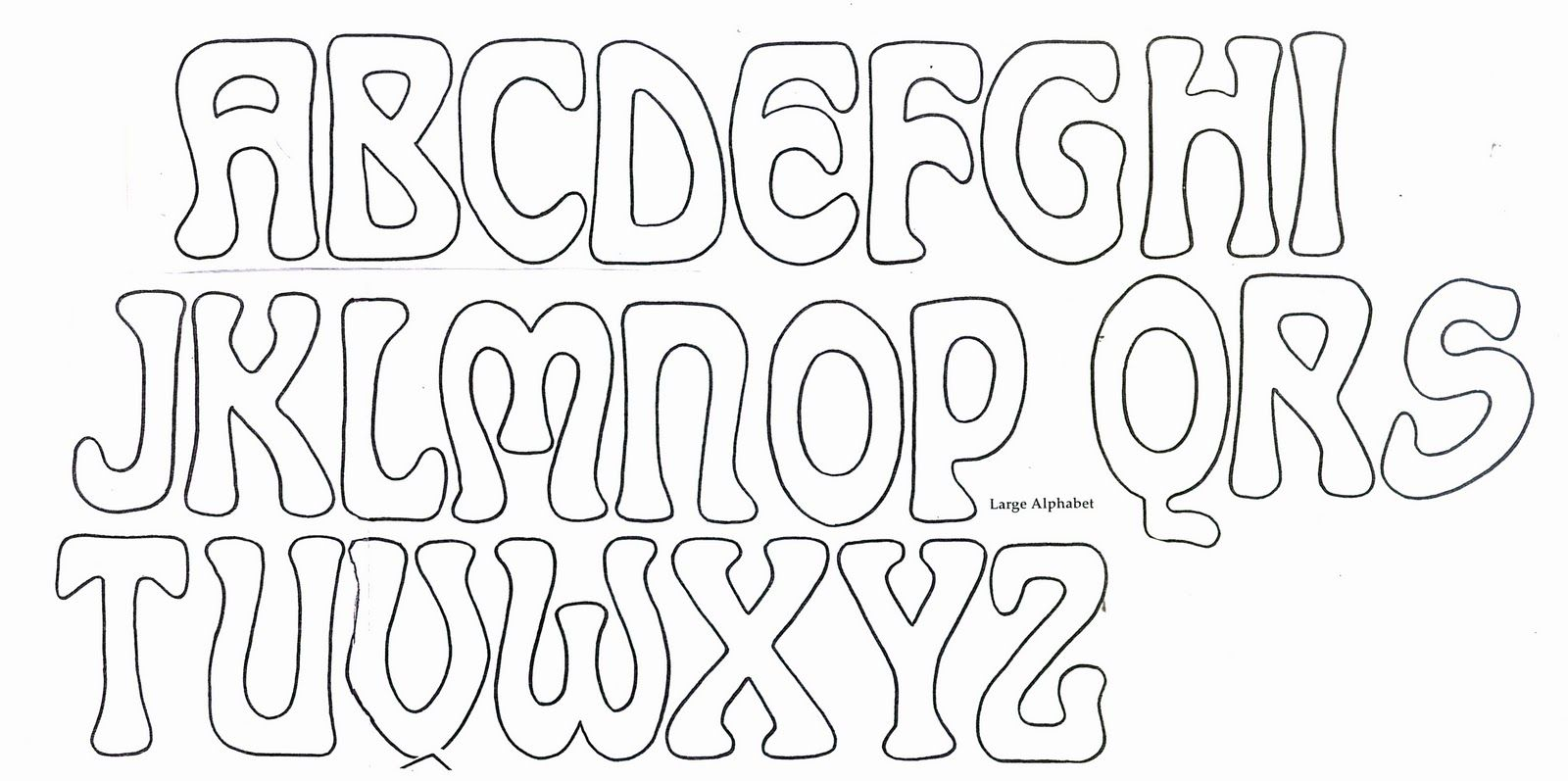 Big Bubble Letters To Trace