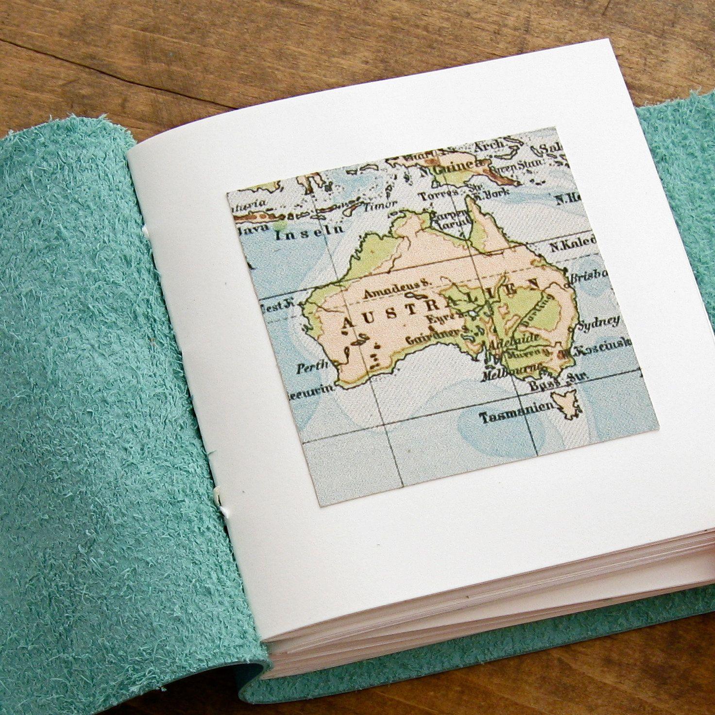 Tiny leather travel journal an australian travel journal with a tiny leather travel journal an australian travel journal with a vintage map image gumiabroncs Choice Image