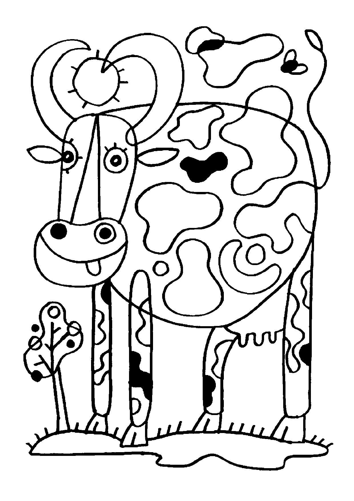 Coloriage Animaux Vache.Coloriage Animaux Vache C Frederic Sochard Coloriages Arabic