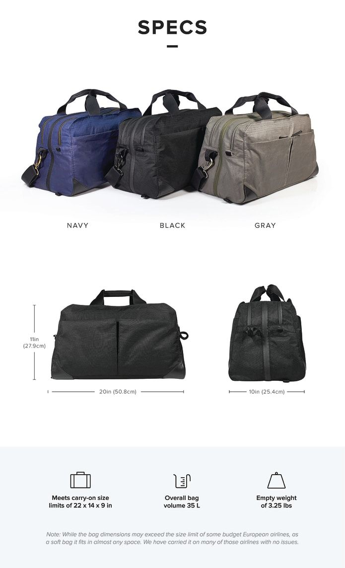 daa0b3c77d PAKT One  The Only Travel Bag You ll Ever Want