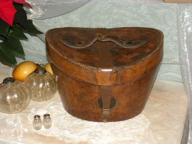 Zeer mooie oude hoedendoos Ouwbollig.eu - Klassiek Engelse Antiek, tot het doorleefde oude Franse Brocante