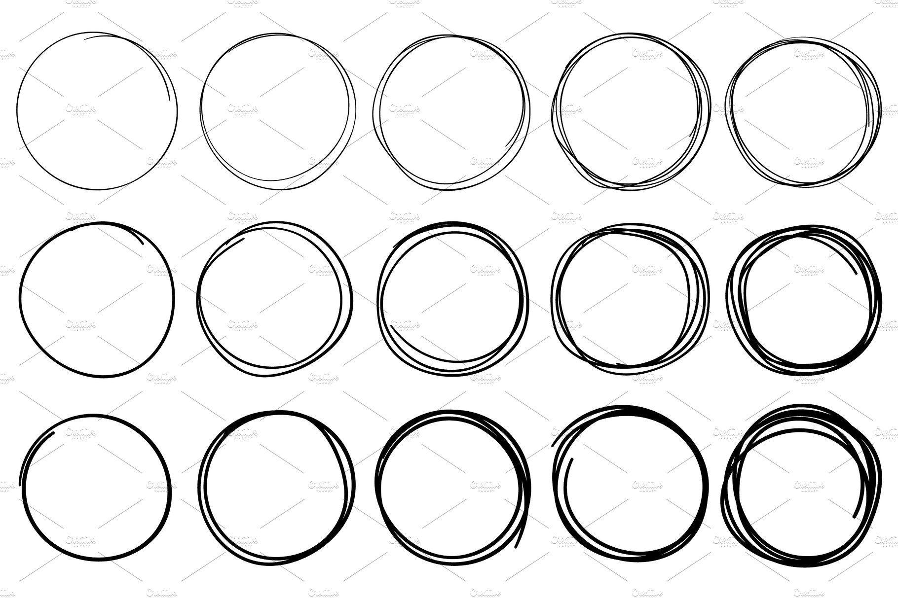 Sketch Circles Circular Doodle Circle Doodles Doodle Frame Circle