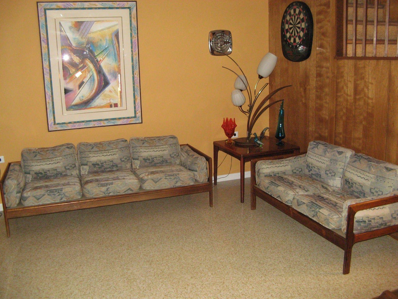 MidCenturyModernMania gmail Interesting sofa and love seat