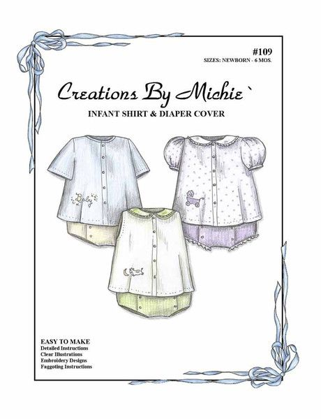 Infant Shirt & Diaper Cover | Sewing clothes, Hand sewn and Clothes