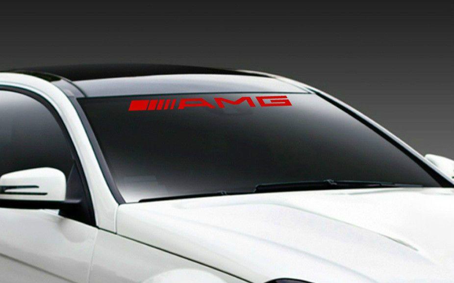 Amg Mercedes Benz C55 E55 Cls63 Racing Windshield Decal Sticker Emblem Logo Red Car Decals Stickers Amg Mercedes Benz