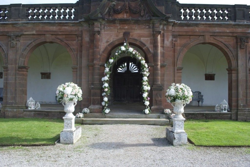 Large Urns For Decoration Awesome Outdoor Ceremony Decorations At Thorton Manor  Flower Arch And Decorating Inspiration