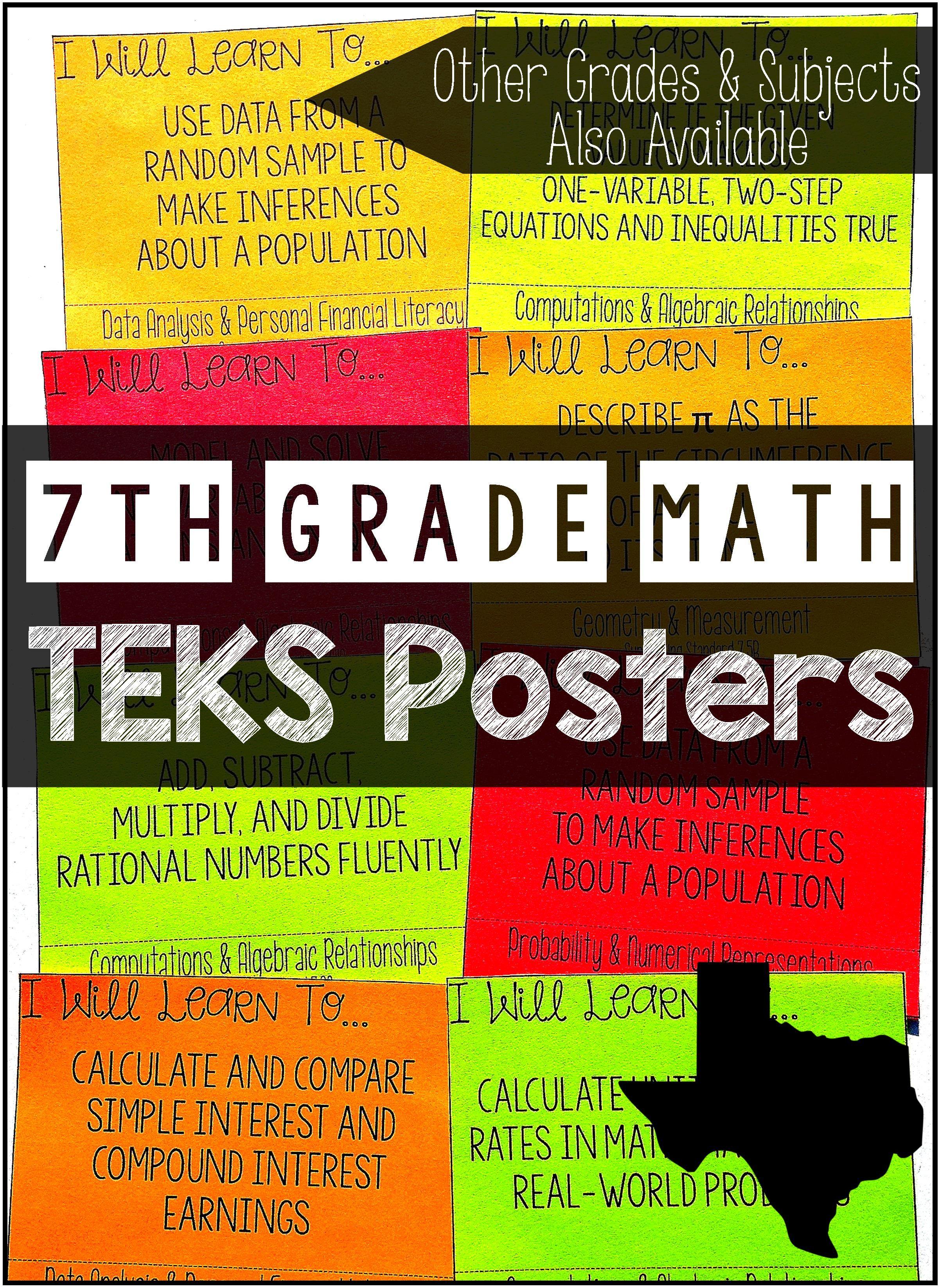7th Grade Math Teks