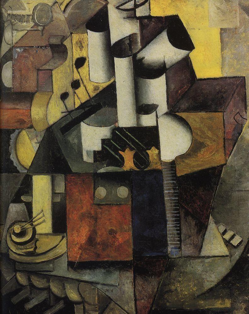 Kazimir Malevich, Musical instrument, 1913 | Cubism, Futurism ...