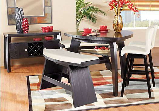 Noah Vanilla 4 Pc Counter Height Dining Room Rooms To Go Furniture Affordable Dining Room Sets Dining Room Sets
