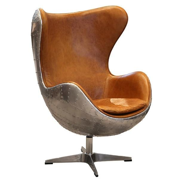 aviator keeler wing desk chair with metal leg and brown leather rh pinterest com