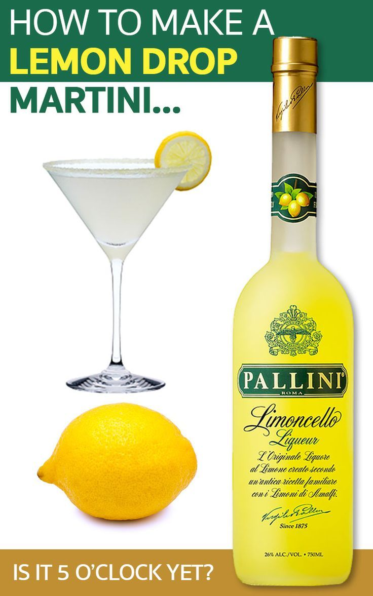 How to make a lemon drop martini who loves martinis