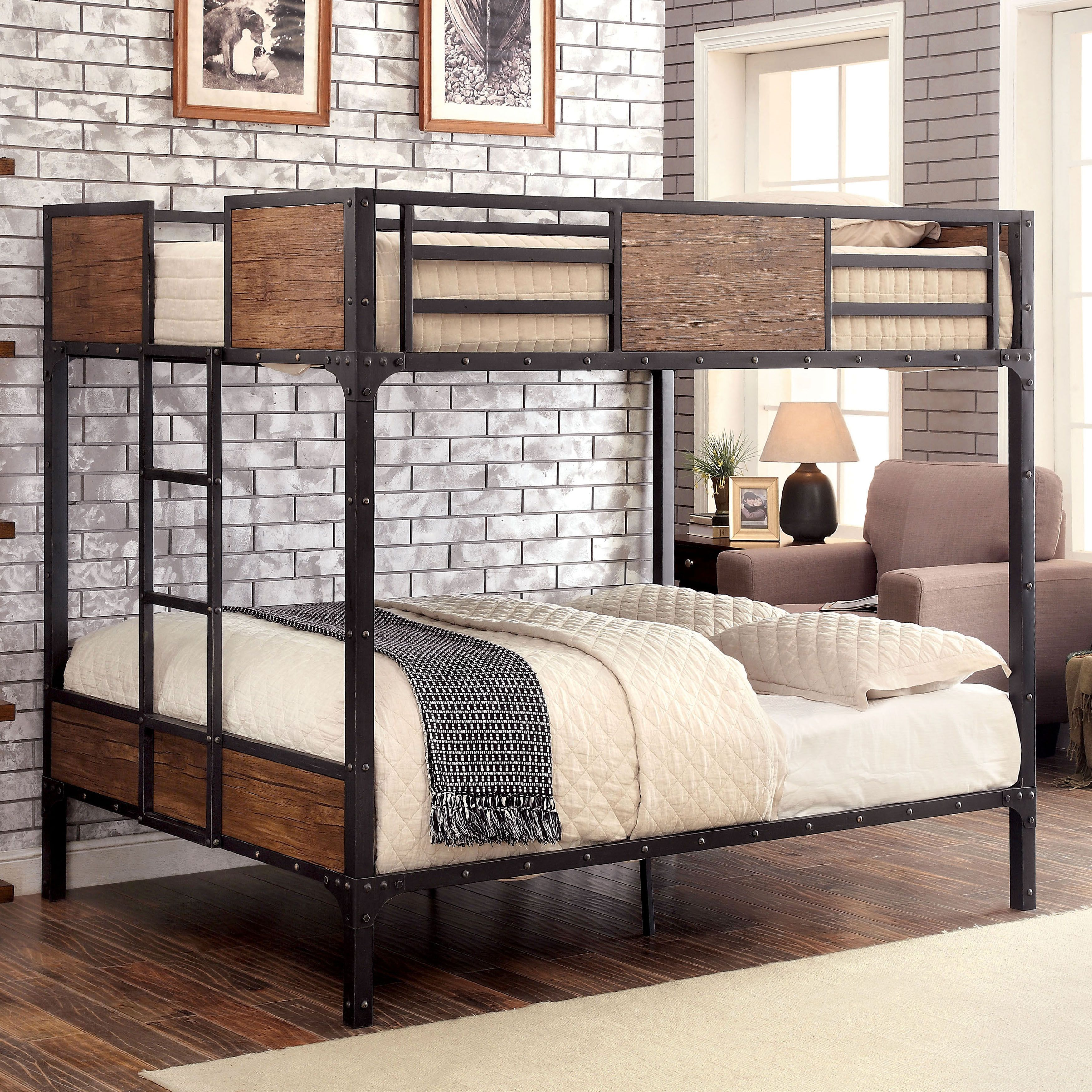 An industrial piece in both design and function, this bunk bed ...