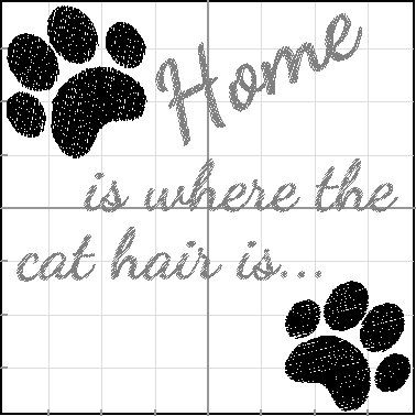 Saying 'Home is where the cat hair is'