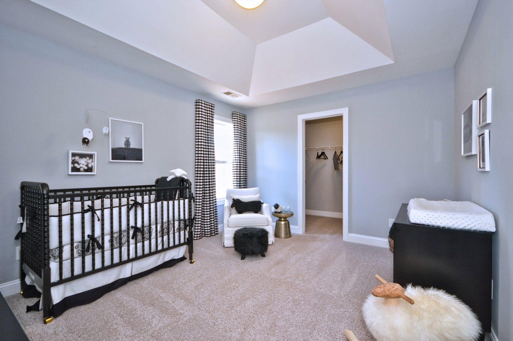 Wakefield model home secondary bedroom tullamore pinterest sherwin williams gray - Small bedroom spaces model ...