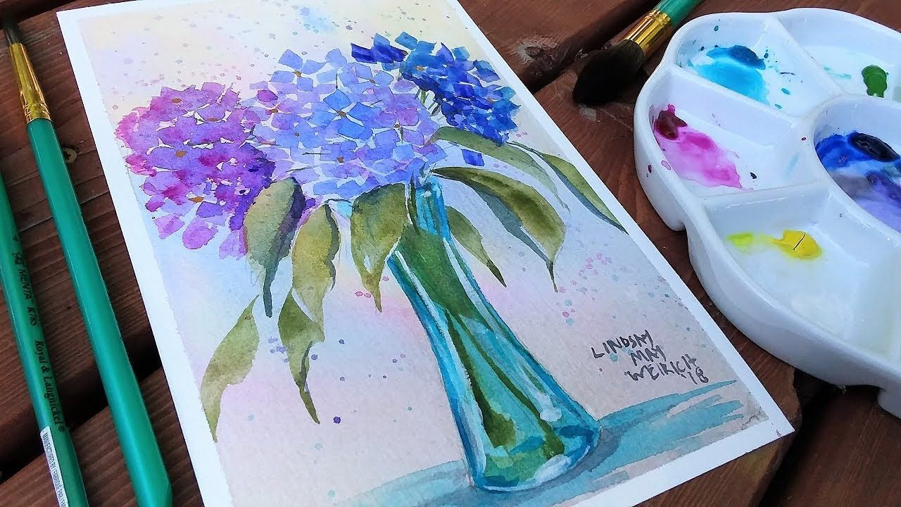 Pond Scene Beginner Watercolor Tutorial Real Time Youtube