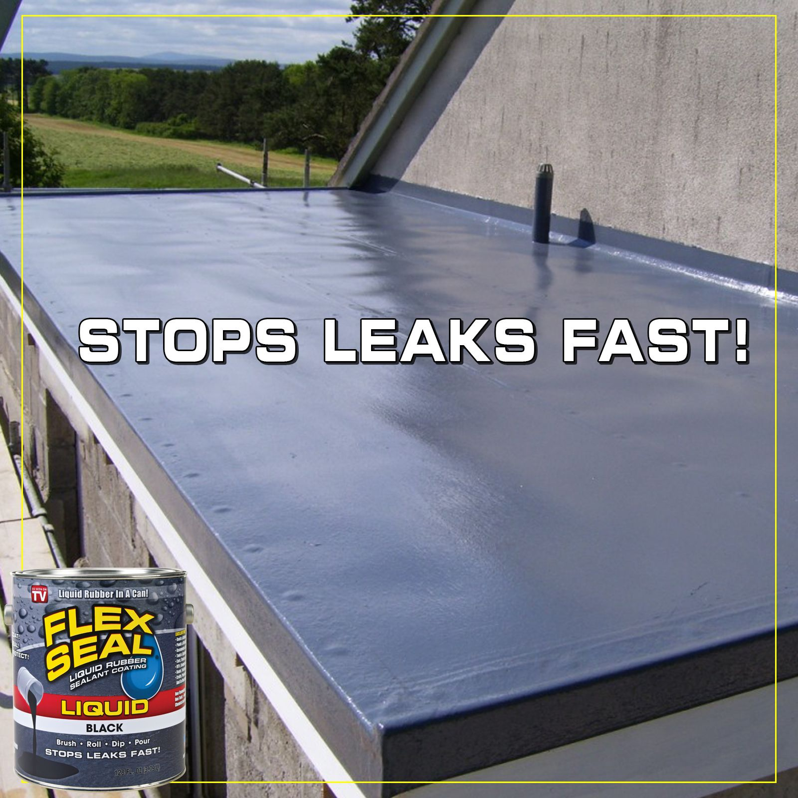 Flex Seal Liquid Liquid Rubber In A Can Low Prices Liquid Rubber Roof Repair Commercial Building Roof