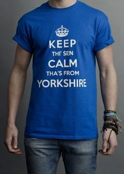 b25a5ac1b3de Keep Calm Yorkshire T-Shirt made from beautiful soft cotton bearing a high  quality print across the chest.